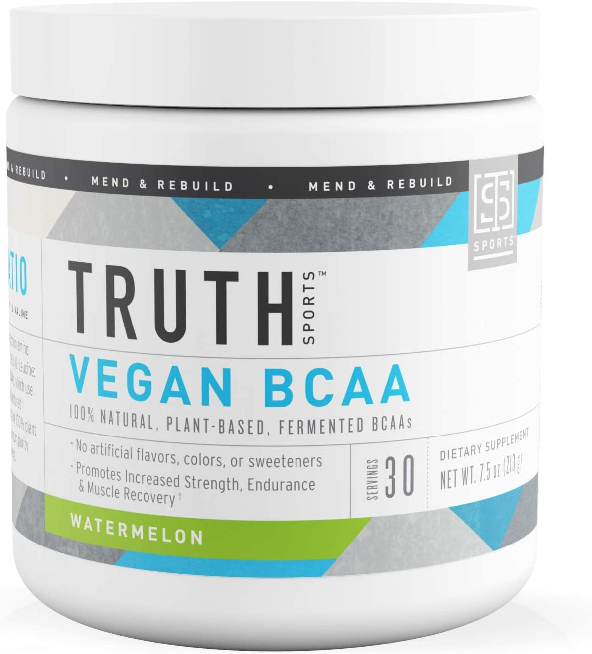 Truth Nutrition Fermented Vegan BCAA Powder – 2 1 1 Pure, Powerful All Natural Branched Chain Amino Acids Watermelon, 30 Servings