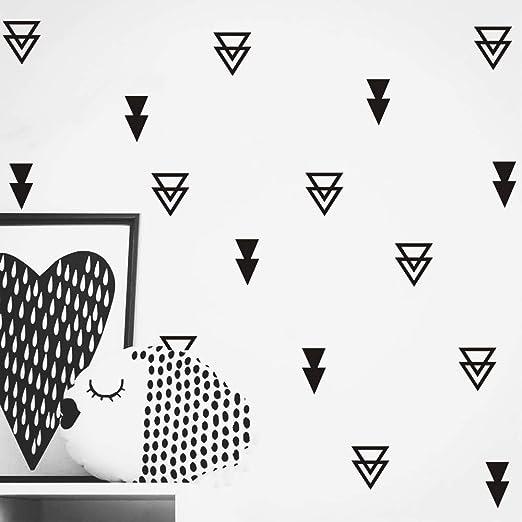Black 2-2.3// 3 Set of 54 FOAL Triangles Modern Arrow Pattern Wall Stickers Vinyl Decal