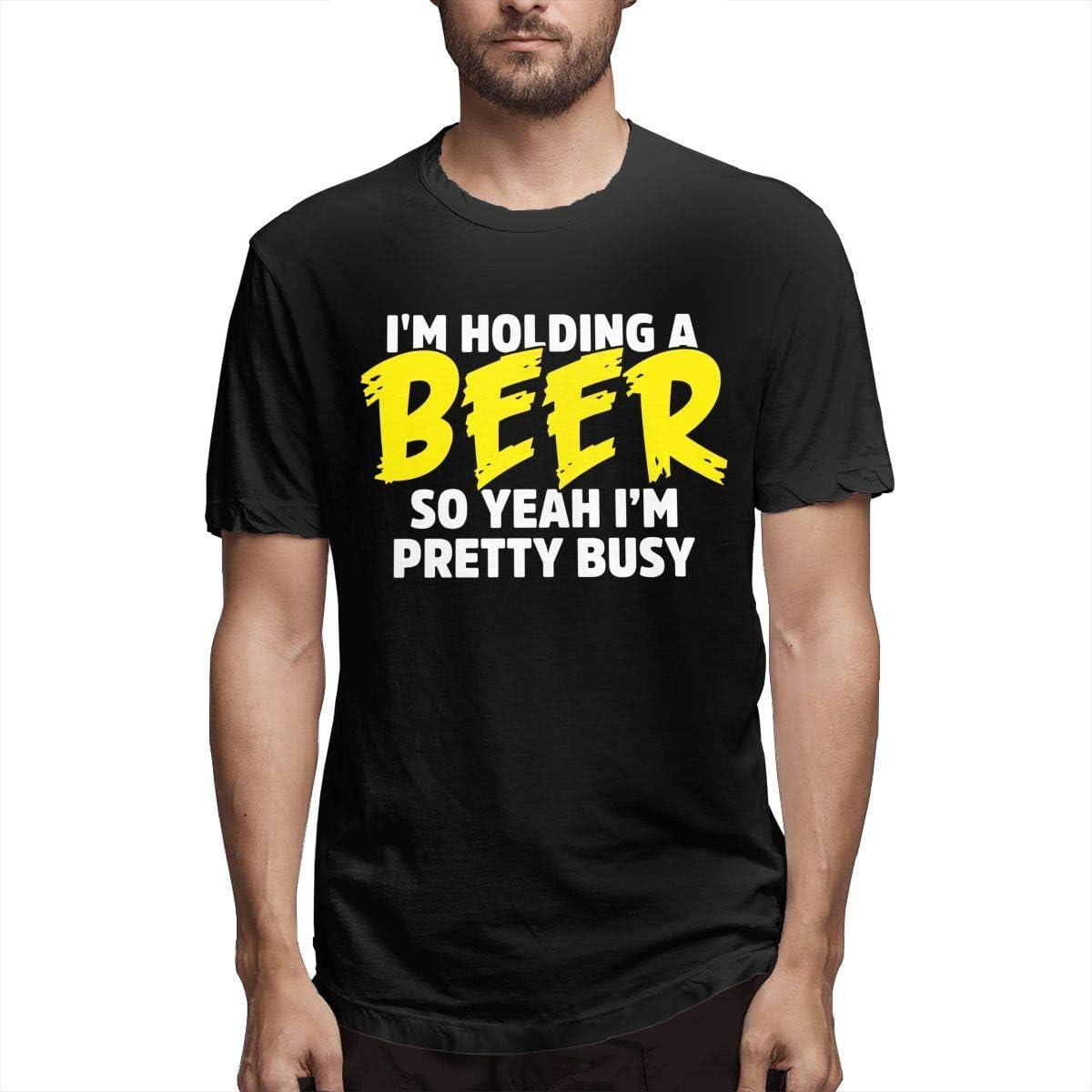 Nuevo Hombre Camisetas de Manga Corta Estoy sosteniendo una Cerveza Así Que sí, Estoy Bastante Ocupado Ropa de Verano Tops para Hombres 5XL: Amazon.es: Ropa y accesorios