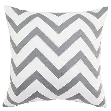 OUTEYE motif rayé vagues taie d'oreiller housse de coussin pour la maison/voiture(7 couleurs à choisir)