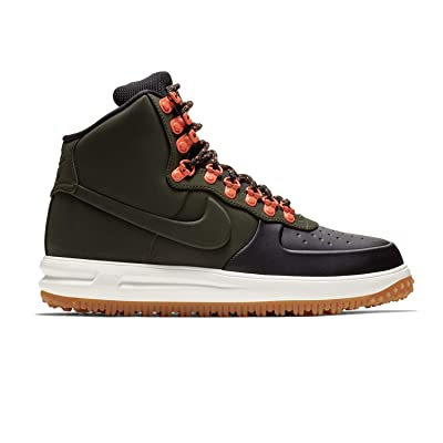 Nike Mens Lunar Force 1 Duckboot Boot (9 M US, Black/Sequoia-sail-Gum Light Brown) | Fashion Sneakers