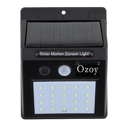 Yozo 20 LEDs Bright Waterproof Solar Wireless Security Motion Sensor Night Light