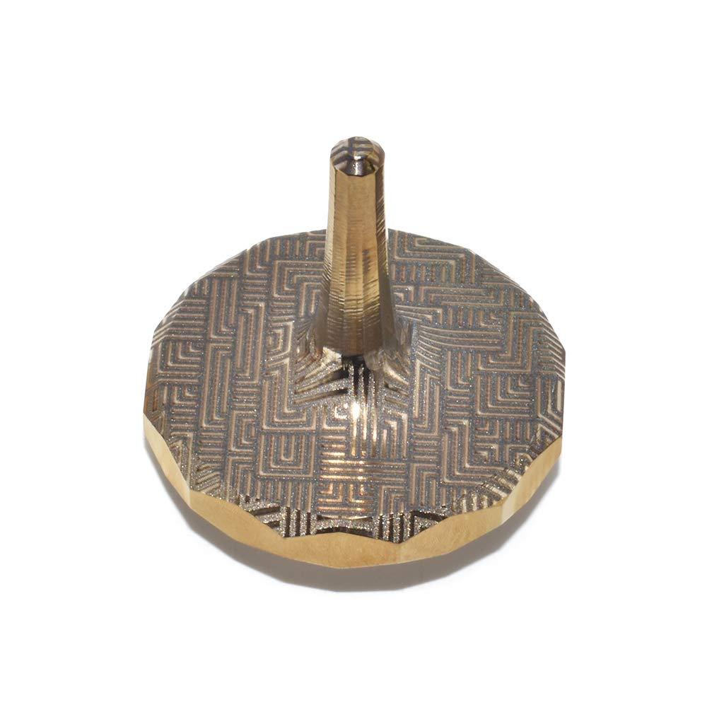 MetonBoss Golden Titanium EDC Spinning Top - Aerospace Grade 5 Titanium (Modern)