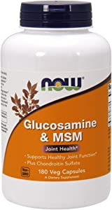 NOW Supplements, Glucosamine & MSM plus Chondroitin Sulfate, Joint Health*, 180 Veg Capsules