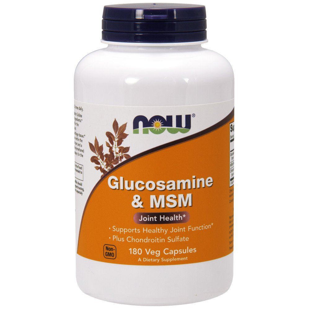 NOW Glucosamine and MSM Joint Health, 180 Capsules