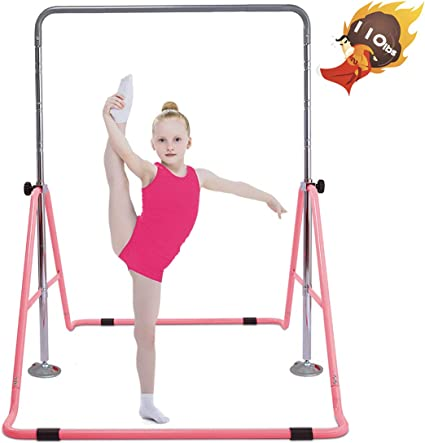Safly Fun Gymnastics Bars Expandable Children/'s Training Monkey Folding Bars Gym