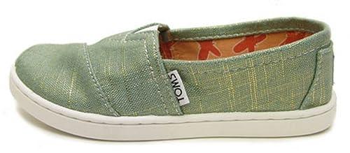TOMS - Alpargatas de Material Sintético para niña Azul Azul: Amazon.es: Zapatos y complementos