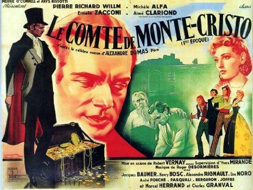 The Count of Monte Cristo Movie Poster (27 x 40 Inches - 69cm x 102cm) (1934) French -(Robert Donat)(Elissa Landi)(Louis Calhern)(Sidney Blackmer)(Irene Hervey)(Raymond Walburn)