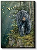 Rocky Outcrop – Black Bear Canvas Clock by Rosemary Millette Review