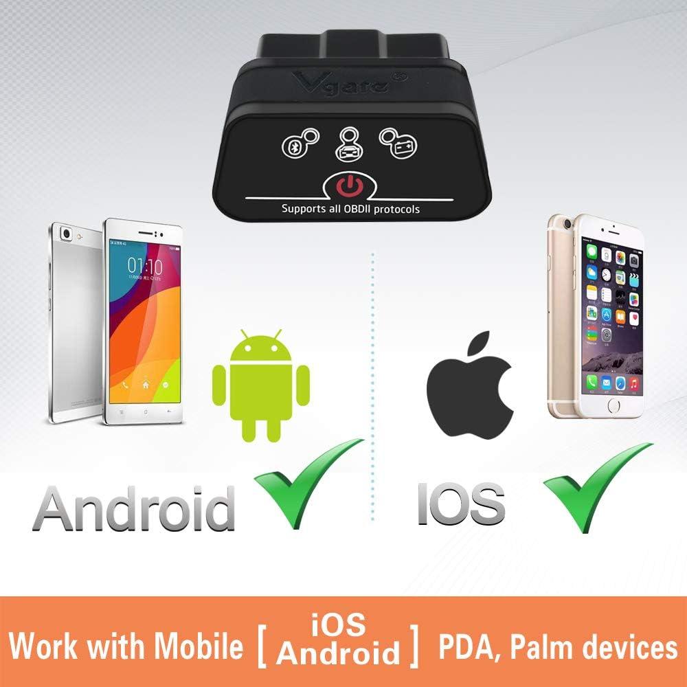 Android et Windows icar 2 BLE4.0 OBD2 Adapter Outils de Diagnostic Lecteur de Code de Voiture pour iOS Noir vgate OBD Bluetooth