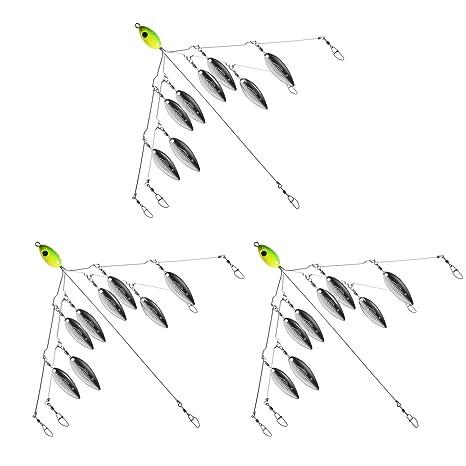Multiple colors 5 Alabama Style Umbrella Fishing Rigs NEW