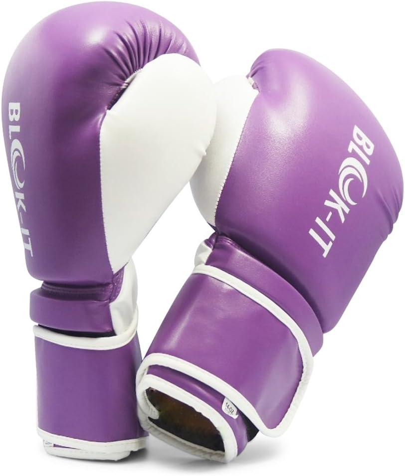 gantsdentra/înement Gants pour Sac de Frappe Le Muay Thai Blok-iT Gants de Boxe: Equipement de sp/écialiste de Boxe Pro Convient pour la Boxe Le Kickboxing la boxercise Gants de Boxe Pro.