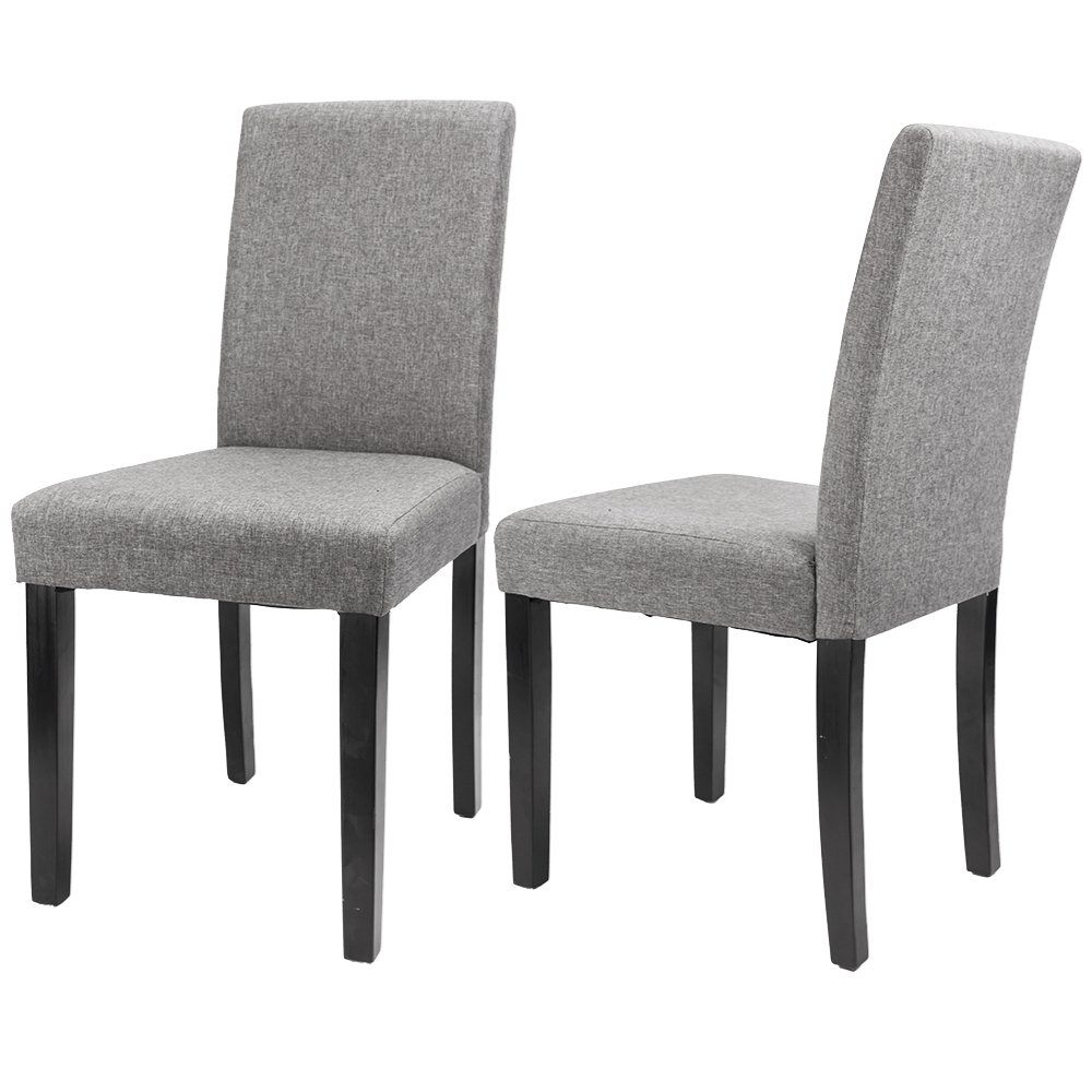 furmax dining chairs fabric kitchen parson chair urban style dining side chair with solid wood legs