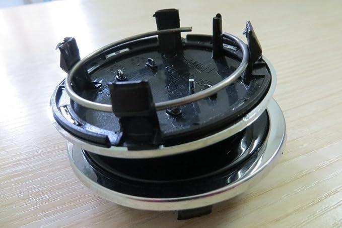 4 embellecedores para tapacubos de 69 mm de aleación: Amazon.es: Coche y moto