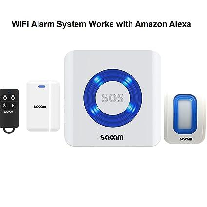 Sistema de alarma Sacam burrda WiFi Control remoto seguridad ...