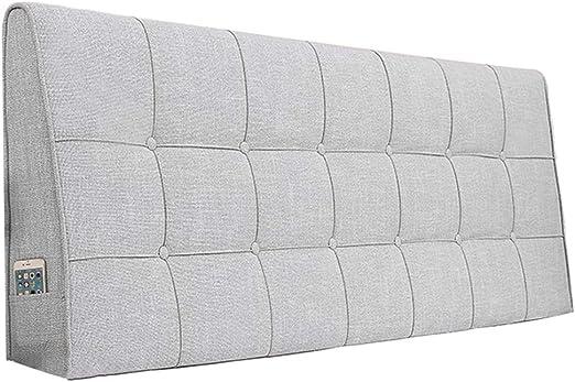 8 Gr/ö/ßen Color : Dark Gray, Size : 140CM 3 Farben PENGFEI Bett Kopfteil Kissen R/ückenlehne Wandkissen Taille Gepolstert Klettverschluss Waschbar