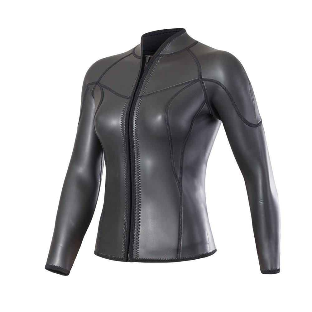Divecica women's 3mm Smooth Skin Long Sleeve Jacket for Diving Swimming Shirts (2XL)