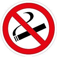 "'Lot de 10stickers Diamètre 10cm ""Fumer interdit, autocollant"