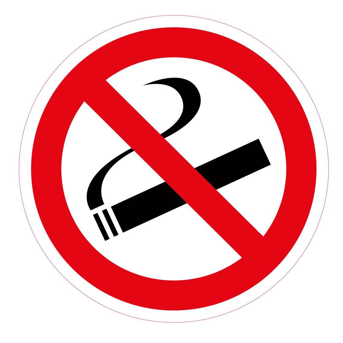 'Lot de 10 stickers Diamè tre 10 cm 'Fumer interdit, autocollant, rayures et ré sistant aux intempé ries rayures et résistant aux intempéries wall-art-design