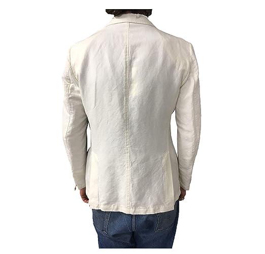 LBM 1911 LBM 1911 giacca uomo avorio 45 cotone 55 lino vestibilit