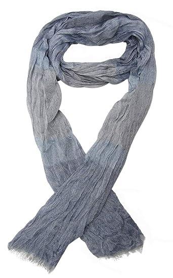 Générique Foulard, chèche écharpe pour homme bleu et gris dominant, 180 x  60 cm e58a55d78f2