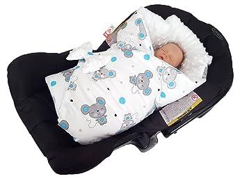 39cd97d8105 BlueberryShop Minky Reversible Car Seat Swaddle Wrap Blanket for Newborn  Baby
