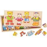 Bigjigs Toys Famille ours à habiller en bois