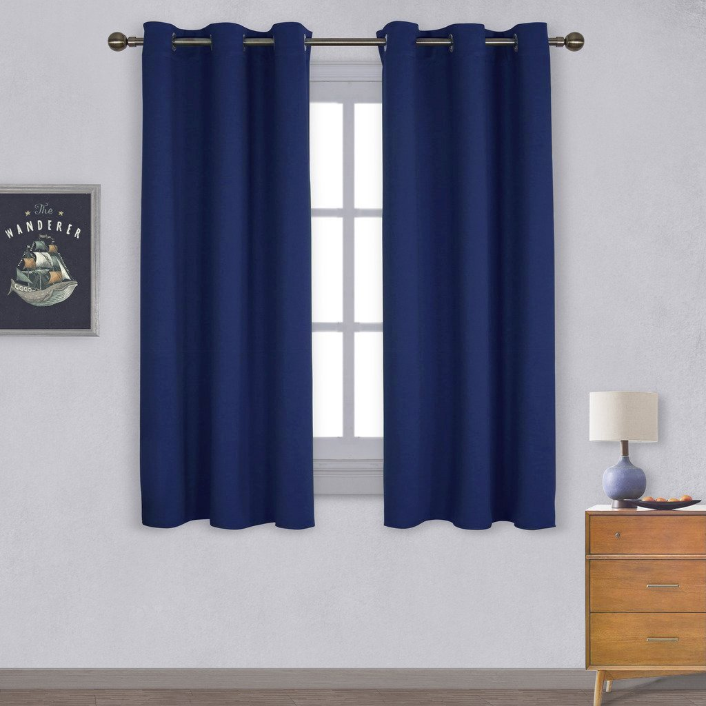Blackout curtains for bedroom - Nicetown All Season Thermal Insulated Solid Grommet Top Blackout Curtains Drapes Panels For Kid S