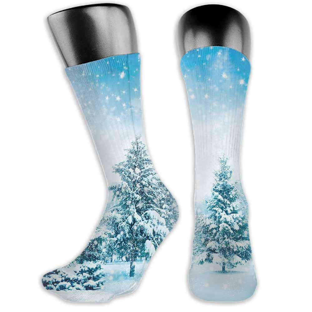 New Business Sox Winter,Snow Branches Tree Leaves and Snowflakes Holiday Christmas Theme November Nature,socks women cotton