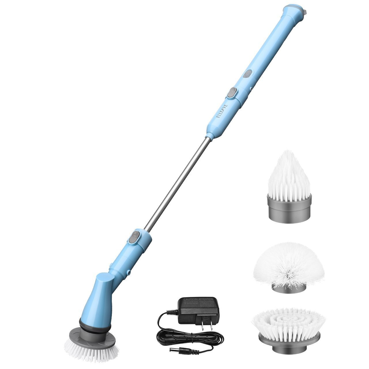 Spin Scrubber, Habor Cordless Power Scrubber, 360° Electric Spin Window Scrubber with 3 Replaceable Cleaning Scrubber Brushes for Shower, Tile, Floor, Wall, Kitchen and Hub