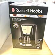 Russell Hobbs Colours Plus 24034-56 - Cafetera, Jarra de Vidrio 1.25 L, Control Digital y Pantalla LCD, Temporizador Programable, 1000 W, Prepara ...