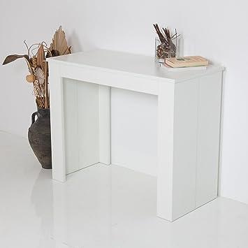 Group Design Table Console Extensible Made En Italy Emy Laque Blanc
