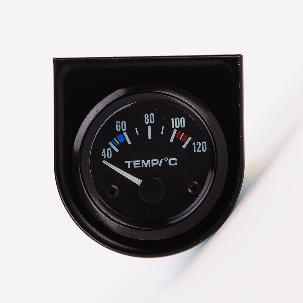 IZTOSS 2' 52mm 12V Universal Car Pointer Water Temperature Temp Gauge 40-120 White LED
