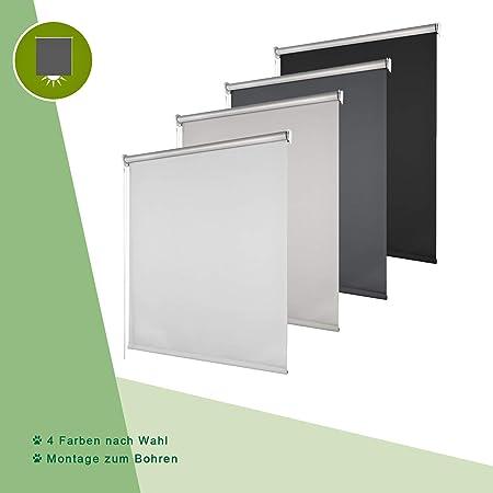 Verdunkelungsrollo Montage zum Bohren Thermorollo easyfix Wand Decken Nischen