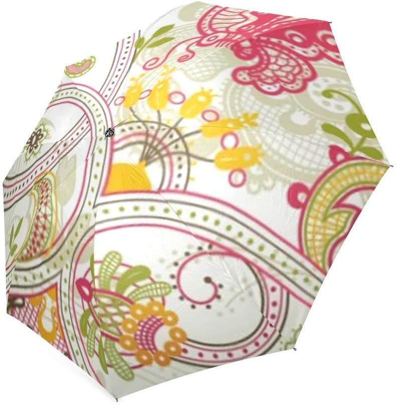 KUAYI Umbrella-Windproof /& Foldable Travel Umbrella,Automatic Flowers Umbrella