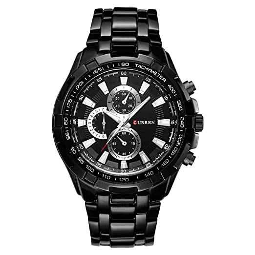 73d66bb203c249 Amazon.com: Hotkey Womens Watches Clearance Sale Fashion Big Ddial Casual  Business Men's Watch Quartz Waterproof Steel: Watches