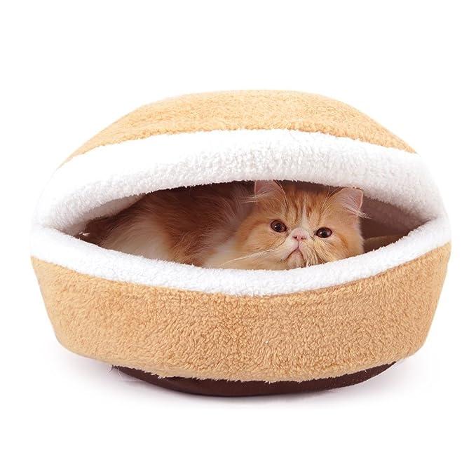 piedra H Hamburguesa Diseño lavable mascota Saco de dormir suave algodón - Caseta de perro cama M: Amazon.es: Productos para mascotas