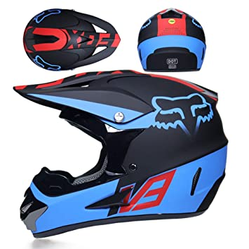 WLBRIGHT Motocross Casco Gafas De Regalo Máscara Guantes Fox Moto Off Road Racing  Casco Completo Cara 0264898ed10