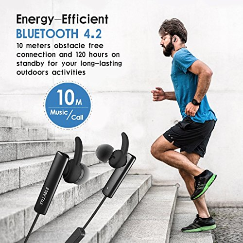 Auriculares Bluetooth, Syllable D900 mini Auriculares deportivos in ear Bluetooth 4.2 Manos Libres con microfono con Caja de Carga para iPhone y otros Smart Phones-Negro D300L