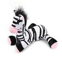 Pro Goleem  Durable Squeak Dog Toy Sturdy Soft Plush Chew Toy Fantastic Hits Zebra Toy for Pets
