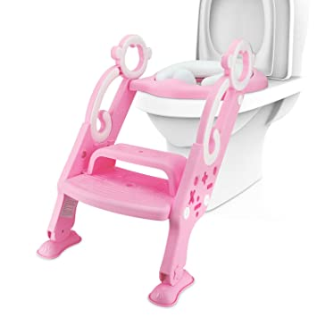 Magnificent Potty Toilet Training Ladder Seat For Kids Adjustable Baby Toilet Potty Chair With Sturdy Non Slip Step Spiritservingveterans Wood Chair Design Ideas Spiritservingveteransorg