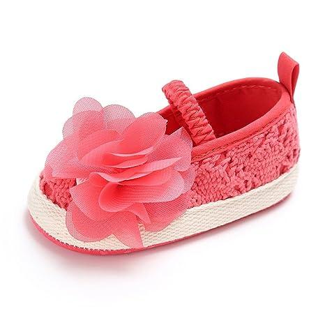 Nicetage zapato de bebé primeros pasos unisex con talón suave, piel con flecos azul claro Talla:13(age 12'18Mo.)