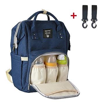 Baby Wickelrucksack Wickeltasche mit Wickelunterlage Multifunktional Gro/ße Kapazit/ät Babytasche Babytasche f/ür Reise