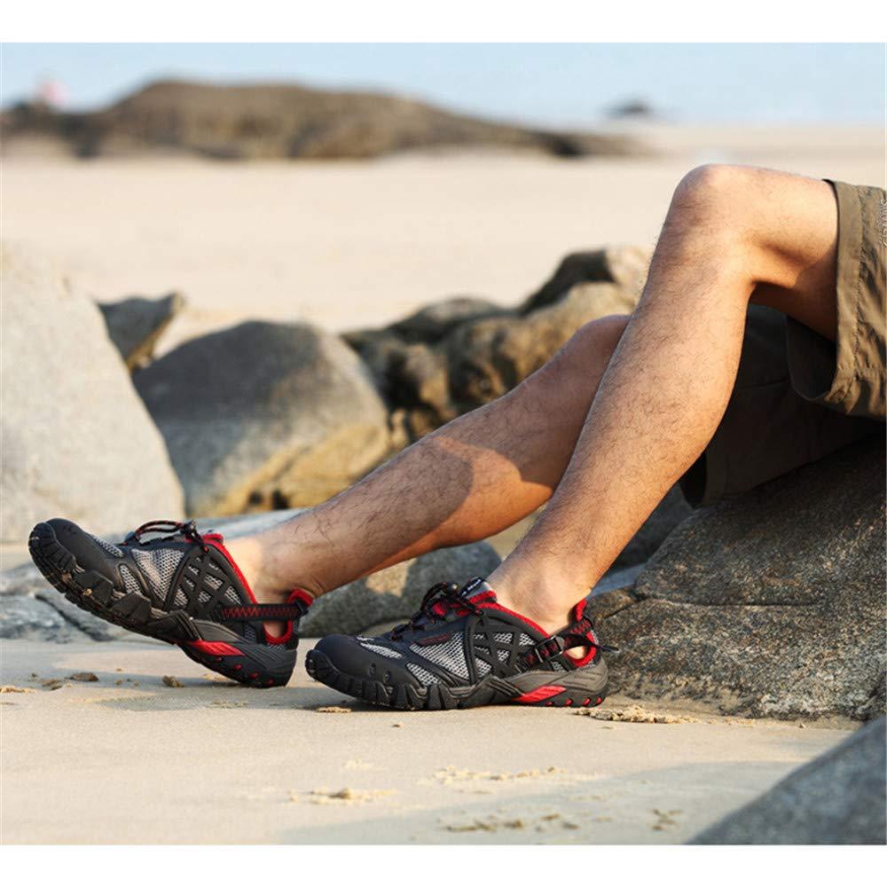 Willsky Herren Wanderschuhe, Wanderschuhe, Herren leichte Wanderschuhe Wasserschuhe Schnelltrocknend Atmungsaktiv Rutschfest Unisex für Trekking Reisen Klettern,rot,47 239066