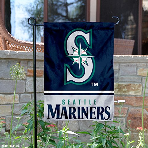 Seattle Mariners Double Sided Garden Flag - Seattle Mariners Hanging