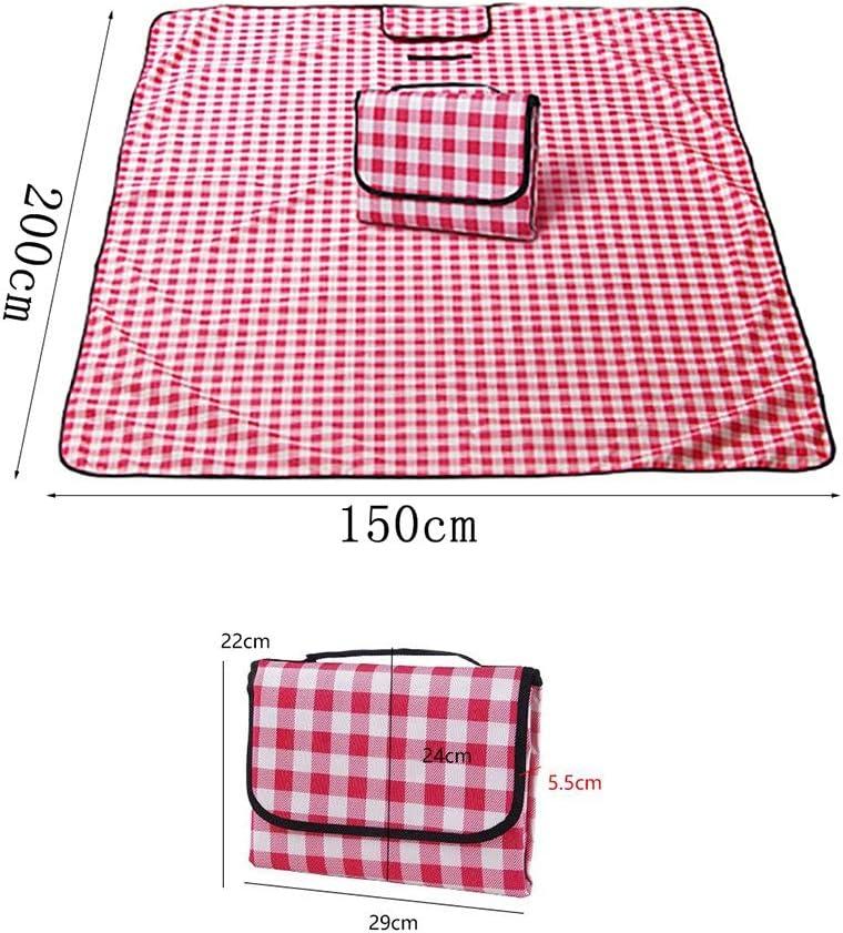 YCD Tappetino da Picnic 150 × 200 cm (59 × 78,7 Pollici) PIC-nic turistico Oxford Tessuto Lavabile in Lavatrice Tappetino da Campeggio Tappetino Stili Multipli (Color : D) F