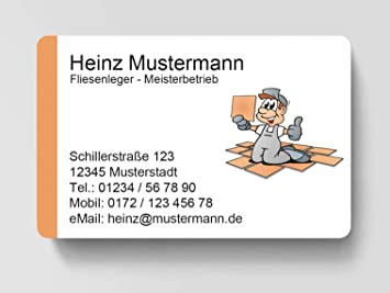 100 Visitenkarten Kartenspender Friseur Friseurin inkl laminiert 85 x 55 mm