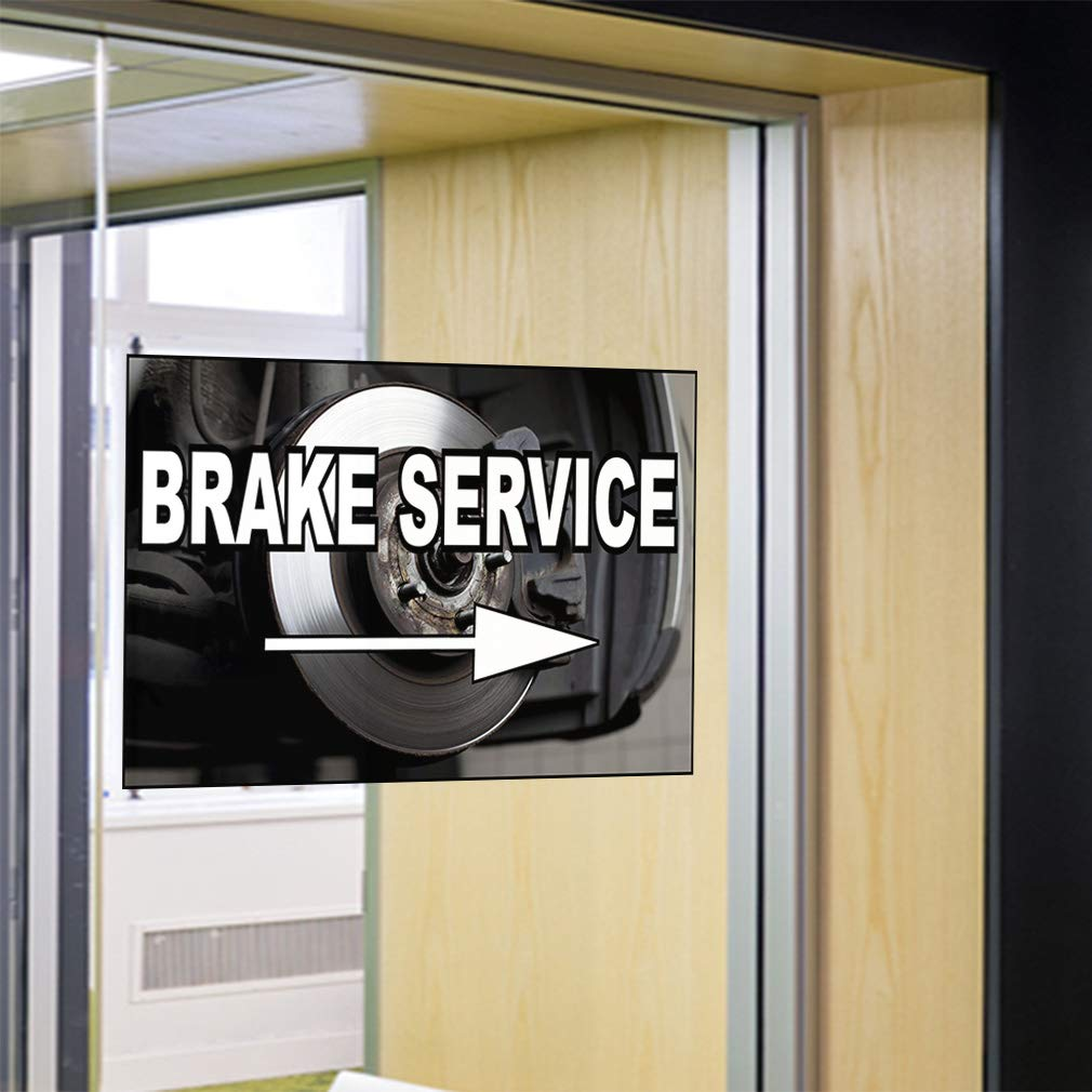 66inx44in Set of 2 Decal Sticker Multiple Sizes Brake Service Automotive Brake Services Outdoor Store Sign Grey