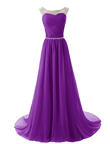 Dressystar® Beaded Straps Bridesmaid Prom Dress with Sparkling Embellished Waist
