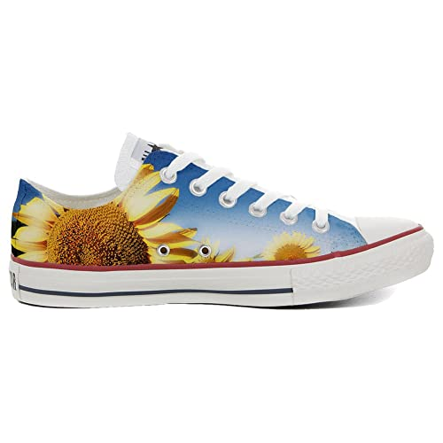 Converse Original CUSTOMIZED with printed Italian style (handmade shoes) Slim Sunflower